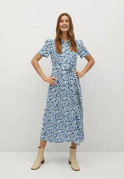 Mango - SHIRTY - Vestido camisero - azul