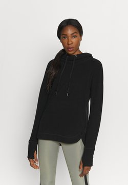 Sweaty Betty - ESCAPE LUXE HOODY - Jersey con capucha - black