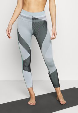 Nike Performance - SEAMLESS SCULPT 7/8 - Tights - grey fog/black/white