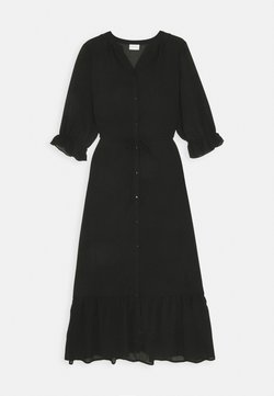 Vila - VIASTRID BUTTON TIE BELT DRESS - Maxiklänning - black