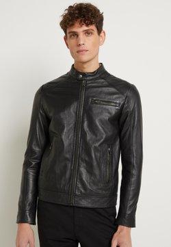 Selected Homme - CLASSIC JACKET - Leren jas - black