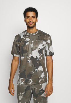adidas Performance - AEROREADY TRAINING SHORT SLEEVE TEE - Camiseta estampada - feather grey