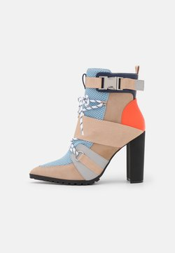 Steve Madden - ILLUSION - High heeled ankle boots - blue/multicolor
