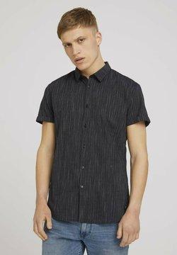TOM TAILOR DENIM - Hemd - black and white stripe