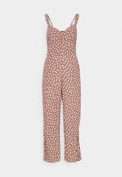 Abercrombie & Fitch - CHASE CINCH FRONT - Jumpsuit - dark red