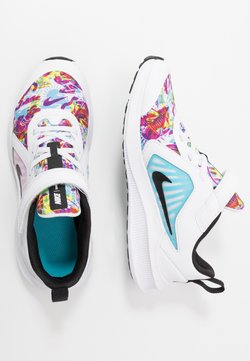 Nike Performance - DOWNSHIFTER 10 FABLE - Obuwie do biegania treningowe - white/black/fire pink/blue fury