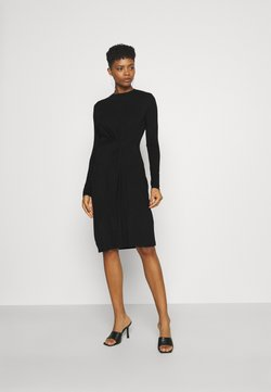 Pieces - PCNEORA KNOT DRESS - Jerseyjurk - black