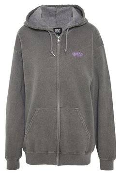 BDG Urban Outfitters - ZIP UP HOODIE - Huppari - charcoal