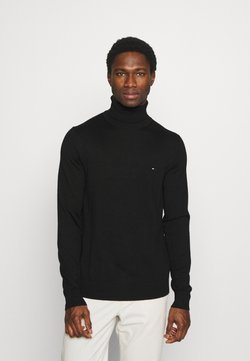 Tommy Hilfiger Tailored - FINE GAUGE LUXURY ROLL - Pullover - black