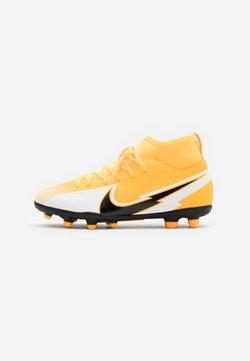 Nike Performance - MERCURIAL 7 CLUB FG/MG - Tekonurmikengät - laser orange/black/white