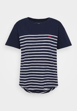 GAP - MEMORIAL DAY TEE - T-Shirt print - navy/white