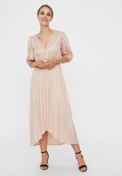 Vero Moda - MAXIKLEID V-AUSSCHNITT - Maxi-jurk - rose dust