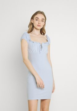 Nly by Nelly - MY FRILL DRESS - Cocktailkleid/festliches Kleid - light blue