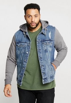 Only & Sons - ONSCOIN HOOD TRUCKER - Veste en jean - blue denim
