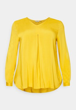 MY TRUE ME TOM TAILOR - BLOUSE WITH PLEAT - Bluse - california sand yellow