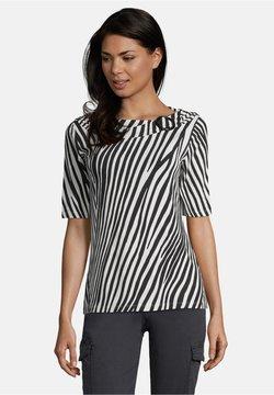 Betty Barclay - MIT SCHNALLE - T-Shirt print - schwarz/weiß