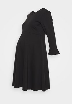 ATTESA - VOLANT MANICA - Vestido ligero - black