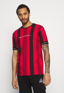 Kings Will Dream - VEDTON STRIPE TEE - T-Shirt print - red/black
