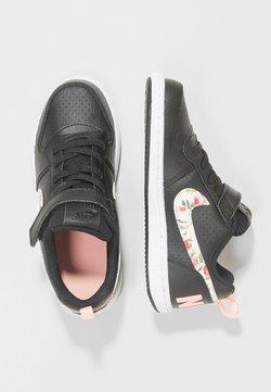 Nike Sportswear - COURT BOROUGH LOW - Matalavartiset tennarit - black/pale ivory/pink tint
