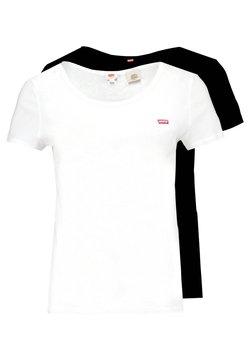 Levi's® - TEE 2 PACK - T-Shirt basic - white/mineral black