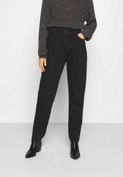 Noisy May - NMISABEL PAPERBAG MOM  - Relaxed fit jeans - black denim