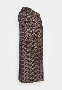 Glamorous Bloom - MIDI SKIRT SPOT - Falda acampanada - brown/cream