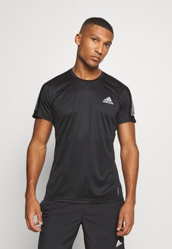 adidas Performance - RESPONSE RUNNING SHORT SLEEVE TEE - Camiseta estampada - black