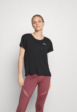 Under Armour - RUSH ENERGY CORE  - T-shirt basic - black