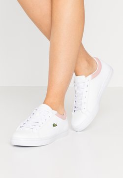 Lacoste - STRAIGHTSET  - Baskets basses - white/light pink