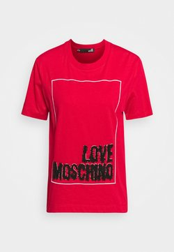 Love Moschino - T-shirt con stampa - red