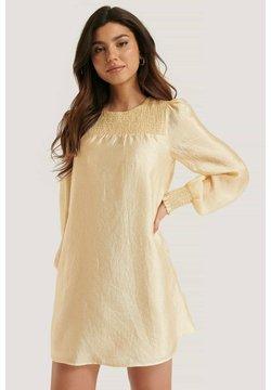 NA-KD - MIT SMOCK-DETAIL - Cocktailkleid/festliches Kleid - beige