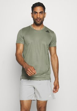 adidas Performance - HEAT.RDY TRAINING SLIM SHORT SLEEVE TEE - Printtipaita - legend green