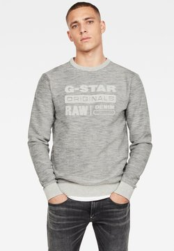 G-Star - PREMIUM CORE LOGO ROUND LONG SLEEVE - Pullover - cool grey