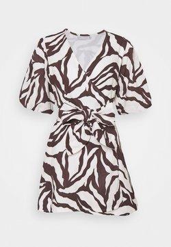 Faithfull the brand - GODIVA WRAP DRESS - Vestito estivo - brown