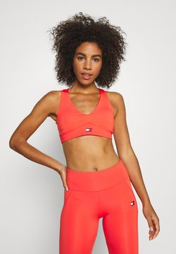 Tommy Sport - MID SUPPORT PADS TAPE BRA - Sport BH - orange