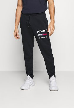 Tommy Hilfiger - GRAPHIC PANT CUFFED - Verryttelyhousut - blue