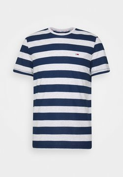 Tommy Jeans - HEATHER STRIPE TEE - T-shirt imprimé - twilight navy