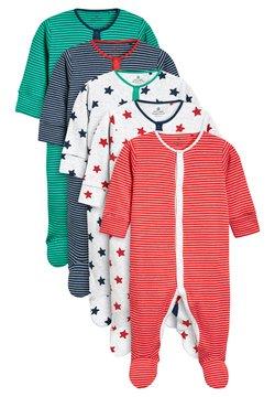 Next - STRIPE AND STAR SLEEPSUITS FIVE PACK (0MTHS-2YRS) - Pyjama - green