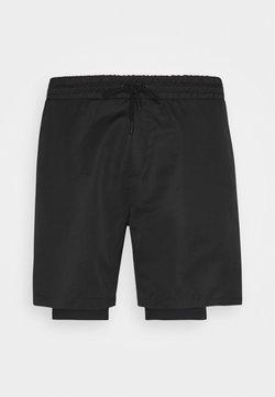 NU-IN - LAYERED - Korte broeken - black
