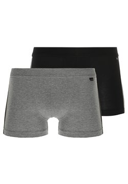 Schiesser - 2 PACK - Shorty - mottled grey/black