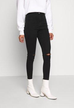 Missguided - VICE HIGHWAISTED SLASH KNEE - Jeans Skinny - black