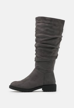 New Look Wide Fit - WIDE FIT CLOUD SLOUCH KNEE HIGH  - Boots - mid grey
