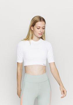 NU-IN - CROPPED  - T-paita - white