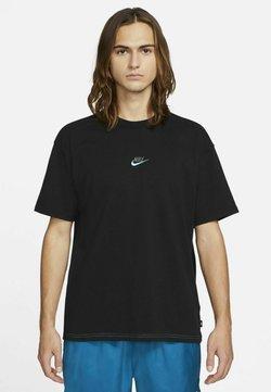 Nike Sportswear - T-shirt con stampa - black/dark grey/chlorine blue