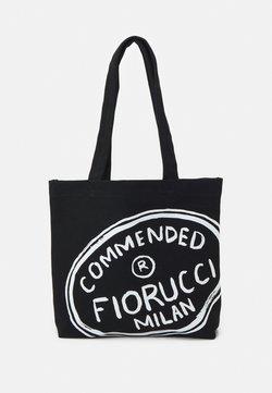 Fiorucci - ILLUSTRATED COMMENDED TOTE BAG UNISEX - Shoppingväska - black