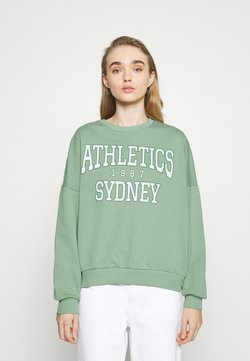 Even&Odd - Printed Crew Neck Sweatshirt - Sweatshirts - green
