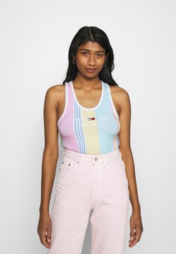 Tommy Jeans - STRIPE BODY - Top - romantic pink