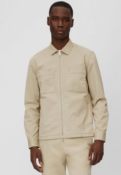 Marc O'Polo - LONG SLEEVE TWO PATCHED CHEST AND SIDE SEAM POCKETS - Leichte Jacke - beige