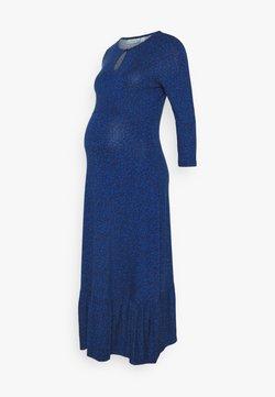 JoJo Maman Bébé - DITSY TIERED MIDI DRESS - Vestido ligero - blue