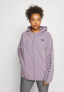 Under Armour - HOODED JACKET - Laufjacke - slate purple